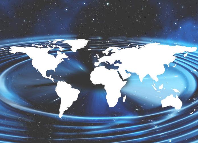 pianeta terra mondo planisfero