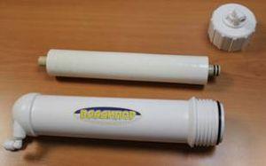 Un modulo a membrana utilizzato nella separazione di gas.