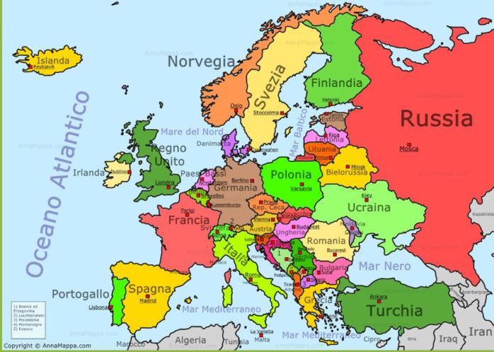 cartina europa