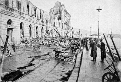 Fig. 1. Effetti del terremoto di Messina del 1908
