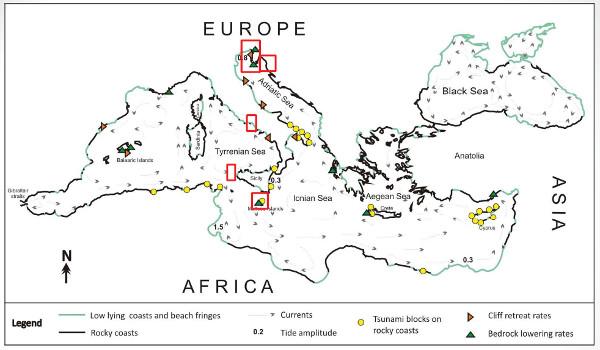 Mappa coste Mediterraneo