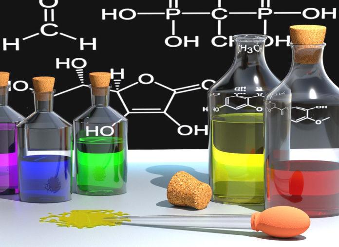 chimica ricerca provette