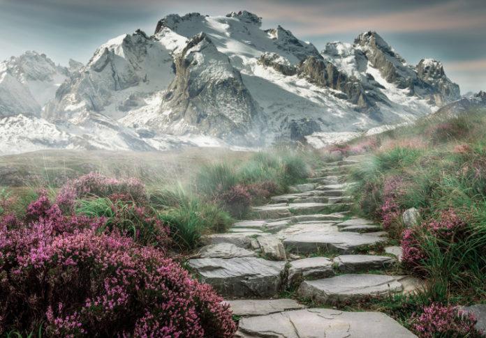 montagna pianura paesaggio