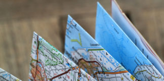 mappe cartina la tela uomo
