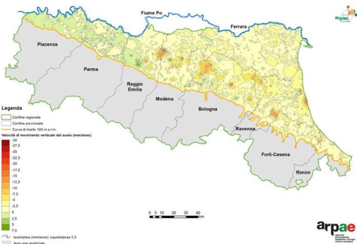 Emilia Romagna subsidenza