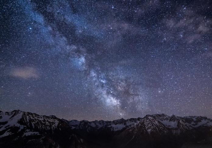 via lattea cielo stelle