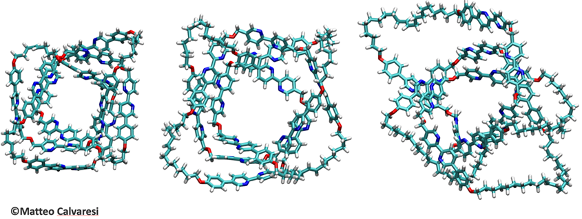Tre nano-nodi molecolari - Immagine di Matteo Calvaresi
