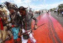protesta indigeni brasilia