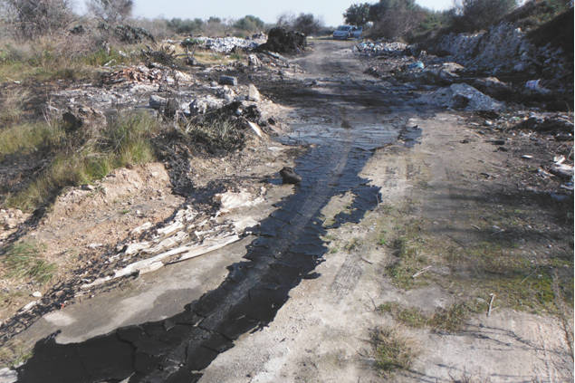 rifiuti illegali lama san giorgio bari