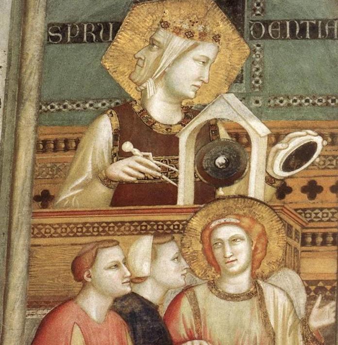 Giotto di Bondone Allegorie francescane obbedienza