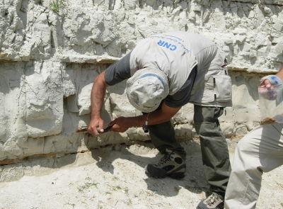 Campionamento sedimenti del paleolago di Sulmona