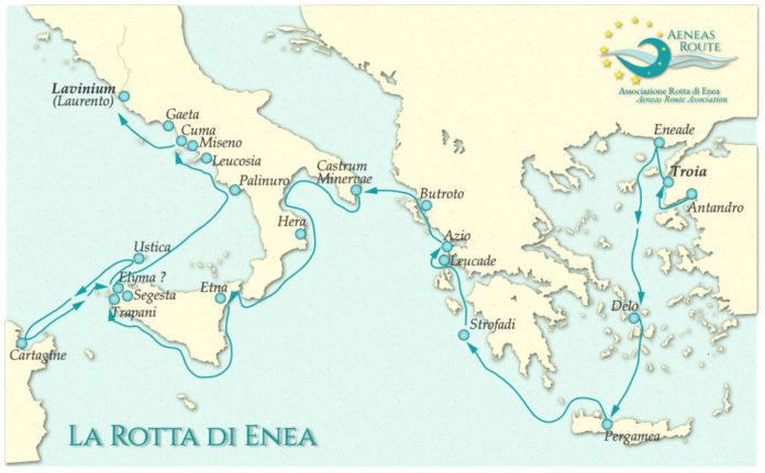Rotta mappa Enea da Eneide