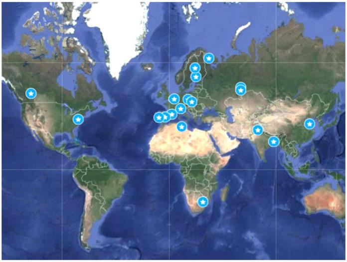 mappa inquinamento e uccelli