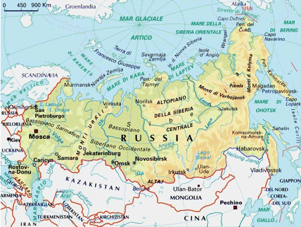Cartina Russia Con Confini.I Mari Della Russia E Del Mondo Sono In Un Mare Di Guai Villaggio Globale