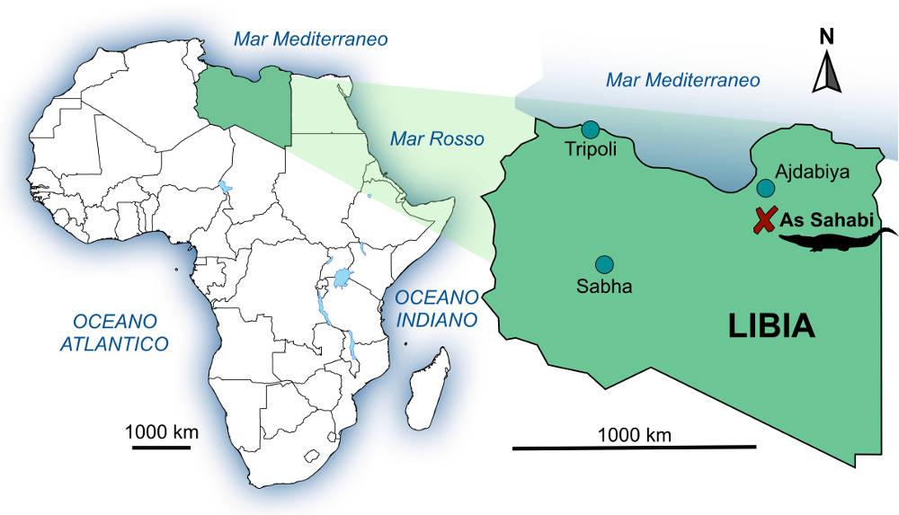 Mappa località coccodrillo