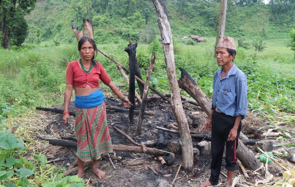 budimaya chepang family burned home